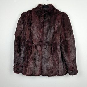 Vintage Dyed Rabbit Fur Jacket Size M
